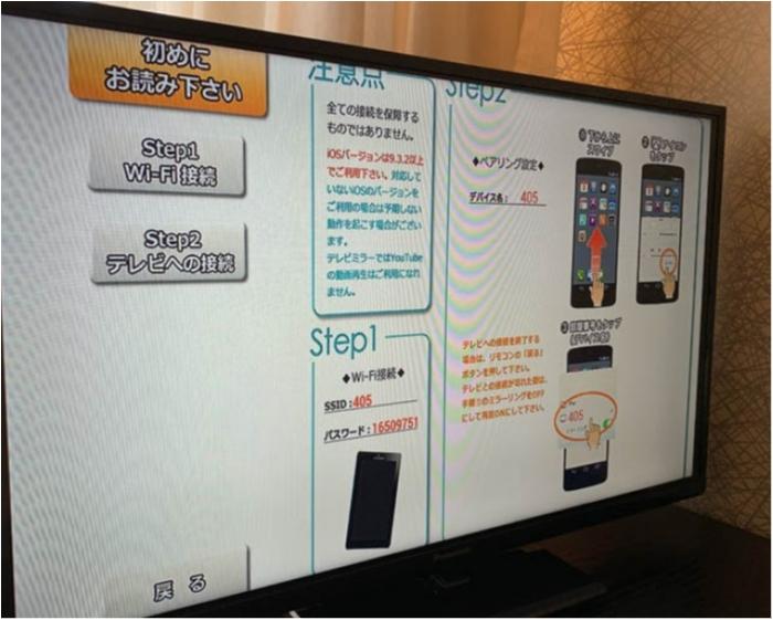 テレビ スマホ ミラーリング